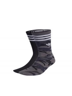 ADIDAS Chaussettes Mid Crew camouflage gris / noir