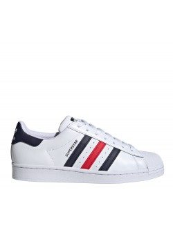 ADIDAS Superstar cuir blanc / rouge / noir / marine