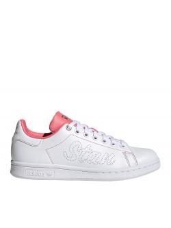Adidas Stan Smith Primegreen  incrusté blanc / rose