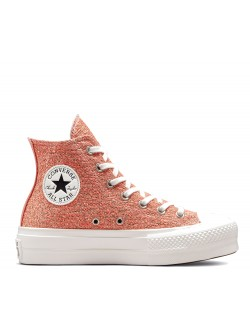 Converse Chuck Taylor all star Lift plateforme Clay / light gold