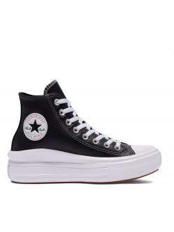 Converse Chuck Taylor all star Move plateforme cuir noir