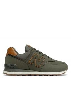New Balance ML574 cuir kaki
