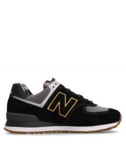 New Balance ML574 carreaux noir