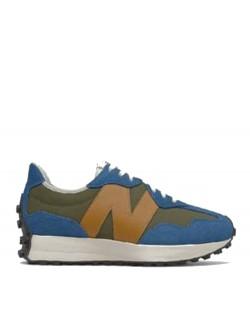 New Balance MS327 cuir bleu / kaki