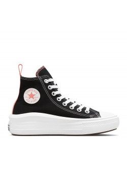 Converse Chuck Taylor all star Move Kids plateforme noir / rose