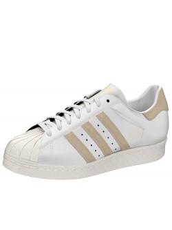 ADIDAS Superstar cuir blanc / camel