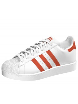 ADIDAS Superstar cuir blanc / orange