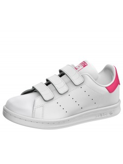 ADIDAS Stan Smith Cadet velcro blanc / rose