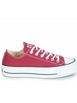 Converse Chuck Taylor all star Lift basse toile plateforme rhubarbe