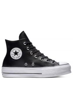 Converse Chuck Taylor all star Lift cuir plateforme noir