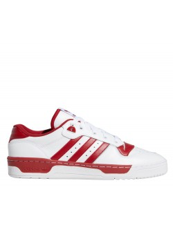 ADIDAS  Rivalry Cuir blanc / bordeaux