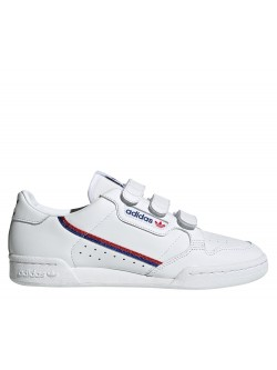 ADIDAS Continental 80 velcro blanc / bleu