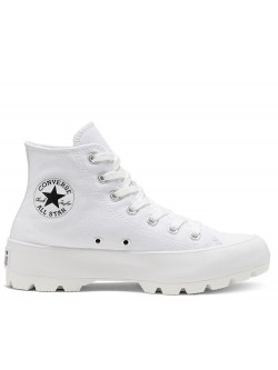 Converse Chuck Taylor all star Lugged toile plateforme blanc
