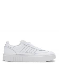ADIDAS Sleek Plateforme 3 bandes blanc
