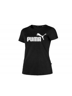 Puma Tee - Shirt Femme noir / blanc