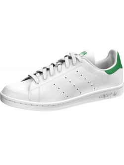 Adidas Stan Smith simili cuir blanc / vert