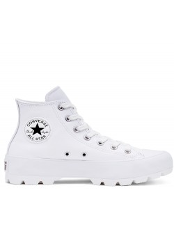 Converse Chuck Taylor all star Lugged cuir plateforme blanc