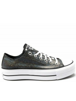 Converse Chuck Taylor all star Lift basse plateforme silver