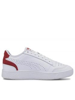 Puma Ralph Sampson cuir perforée blanc / rouge