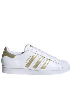 ADIDAS Superstar cuir blanc / or