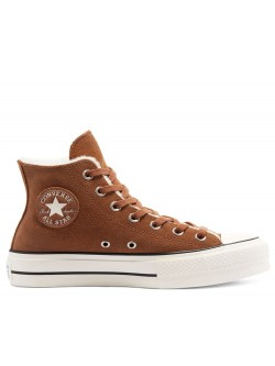 Converse Chuck Taylor all star Lift Moumoute plateforme brown