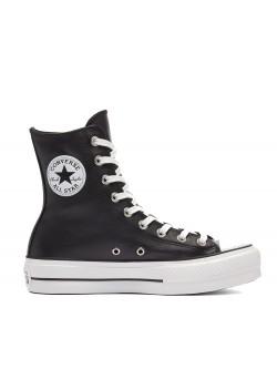 Converse Chuck Taylor all star Lift XI plateforme cuir noir