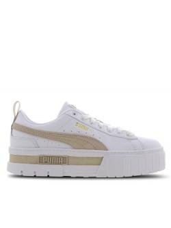 Puma Mayze cuir blanc / beige