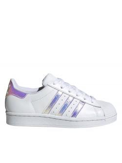 ADIDAS Superstar Kids cuir blanc paillette iridescent