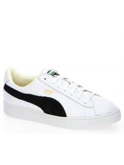 Puma Basket cuir blanc noir