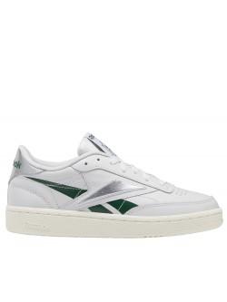 REEBOK Club C85 cuir blanc vert argent