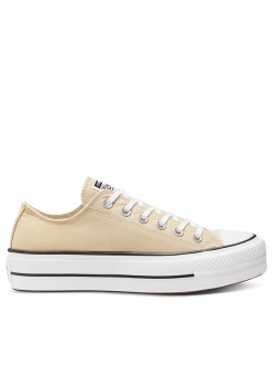 Converse Chuck Taylor all star basse Lift sand ivoire (plateforme)