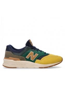 New Balance CM997 suède vert / jaune / bleu marine