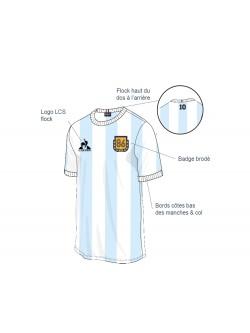 Le Coq Sportif Tee-shirt Crew Argentine Diego Maradona 1986