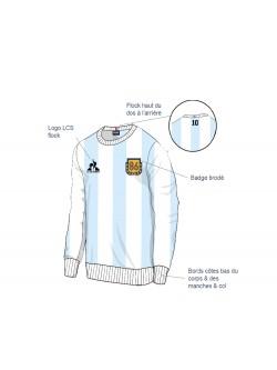 Le Coq Sportif Sweat-shirt Crew Argentine Diego Maradona 1986