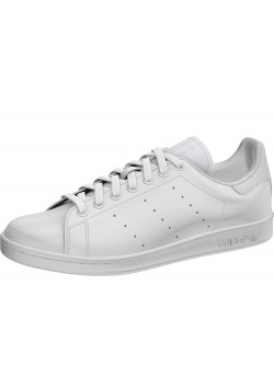 Adidas Stan Smith simili cuir monochrome blanc