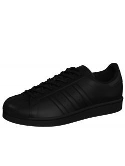 Adidas Superstar cuir mono noir