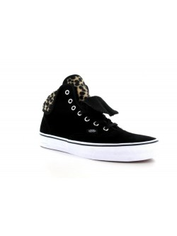 Vans Authentic Furry léopard noir
