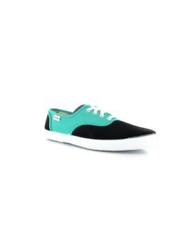 Victoria toile bicolore noir / vert turquoise