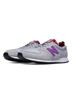New Balance WL420 suède gris / purple atistic pop