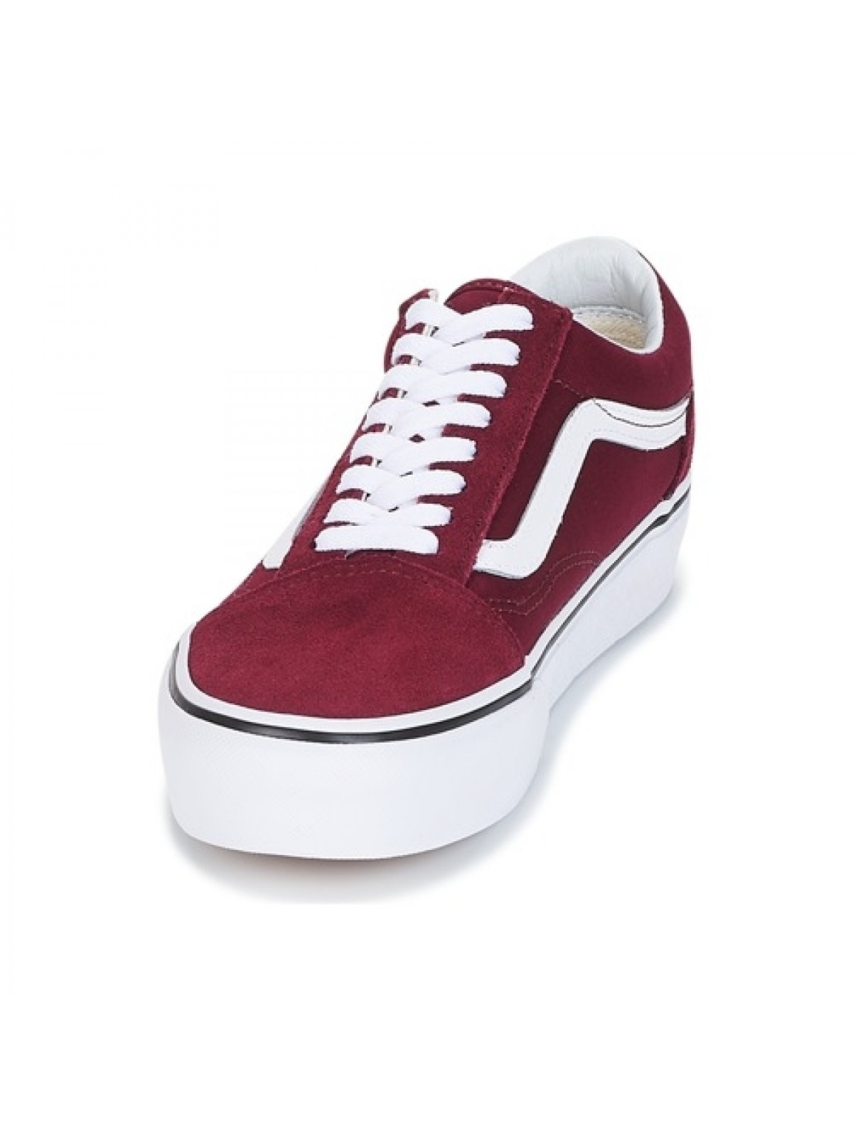 bordeaux Skool Old Vans Skool Plateforme bordeaux Vans Old ...