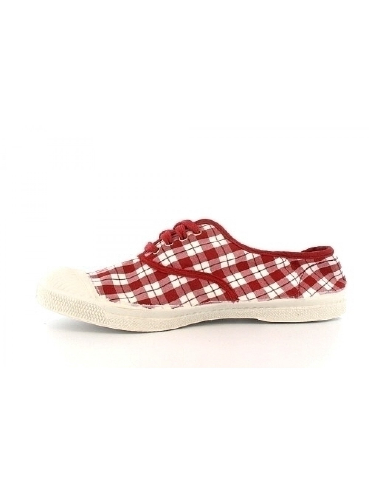 Chaussures en toile bensimon rouge tennis carreaux