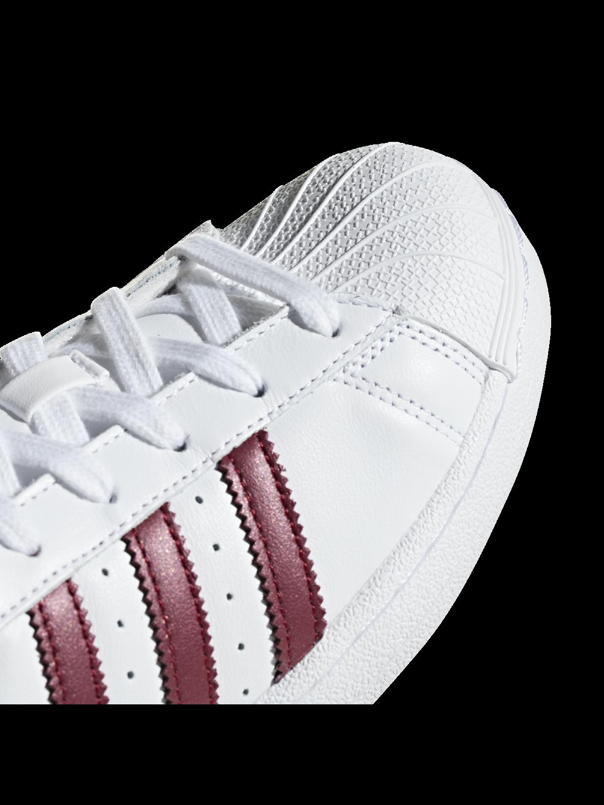 adidas superstar blanche et bordeaux