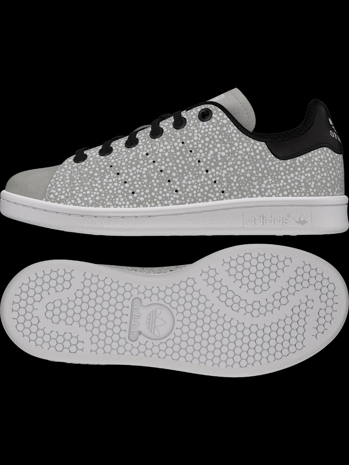ADIDAS Stan Smith Kids dots gris (phosphorescent)