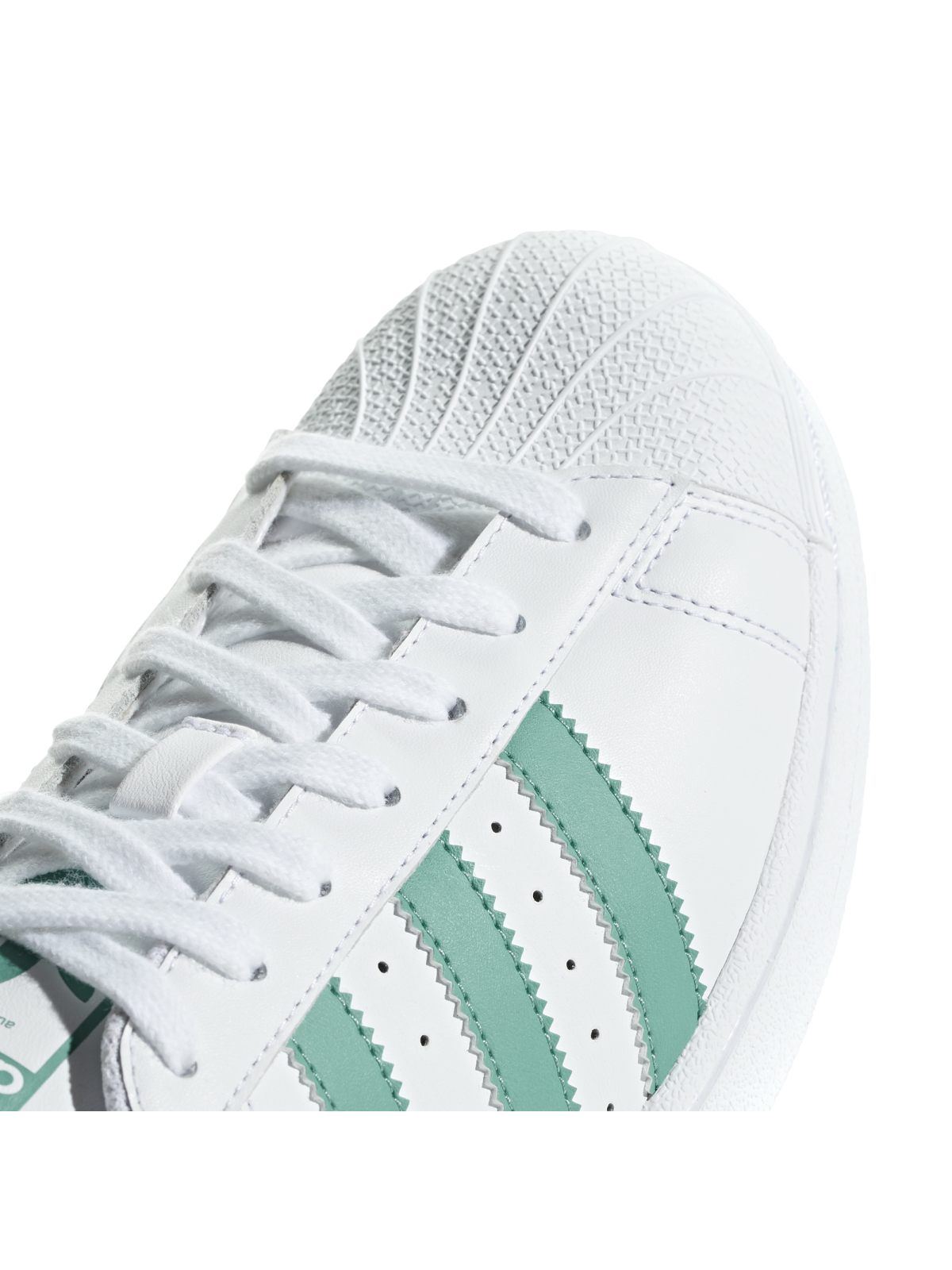 Adidas Superstar cuir blanc vert billard