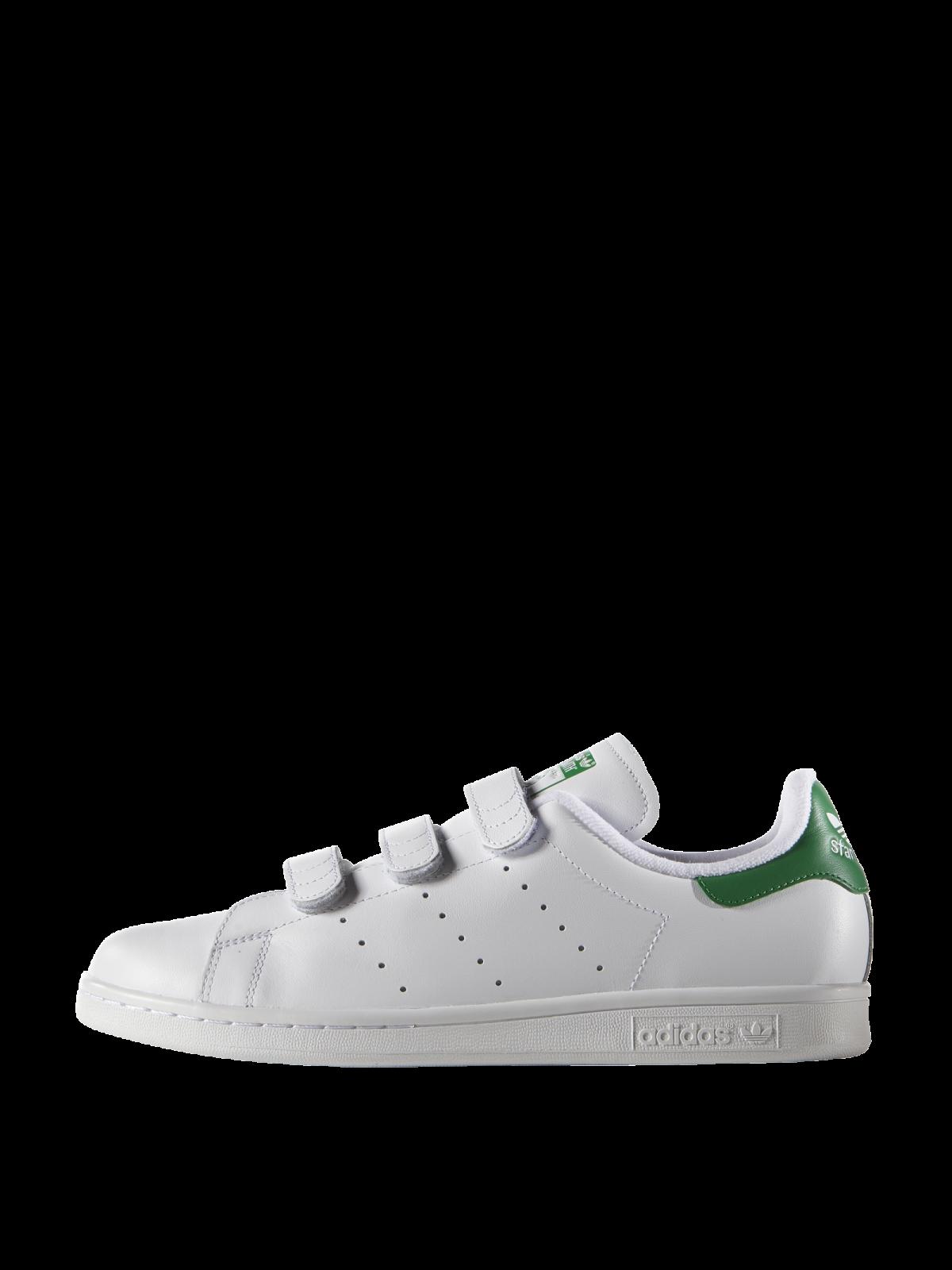 online retailer 0085b 52ac6 Adidas Stan Smith Junior Blanc Vert Cuir Velcro TFlc31JK